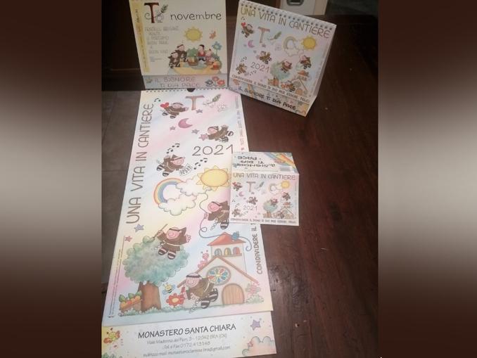 calendario francescano 2021 Suore Clarisse Bra