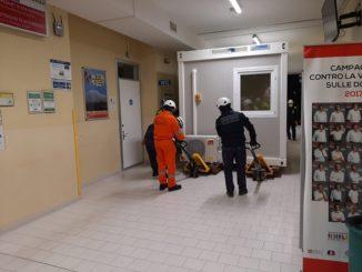 Nuovi container destinati all'accoglienza temporanea dei pazienti che accedono al DEA 1