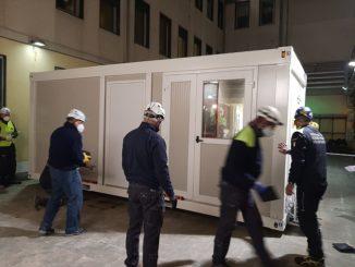 Nuovi container destinati all'accoglienza temporanea dei pazienti che accedono al DEA 2