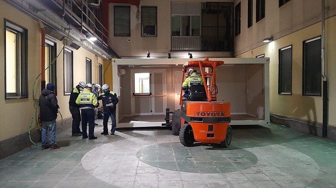 Nuovi container destinati all'accoglienza temporanea dei pazienti che accedono al DEA 3