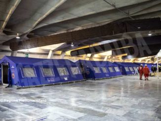 Ospedale Covid a Torino Esposizioni, prosegue il montaggio dei 458 posti letto 3
