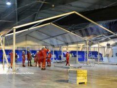 Ospedale Covid a Torino Esposizioni, prosegue il montaggio dei 458 posti letto 4