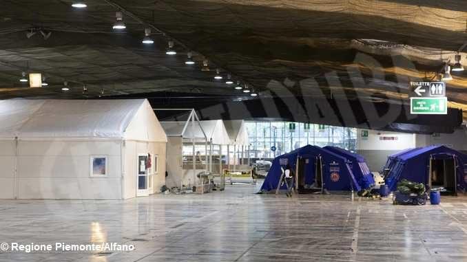 Ospedale Covid a Torino Esposizioni, prosegue il montaggio dei 458 posti letto 5