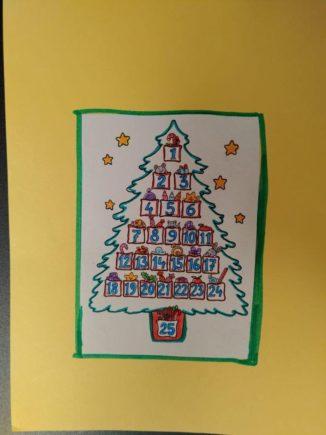 260 biglietti di Natale per i ricoverati di Verduno dai bambini della primaria di Ceresole d'Alba 16