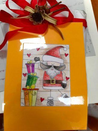 260 biglietti di Natale per i ricoverati di Verduno dai bambini della primaria di Ceresole d'Alba 2
