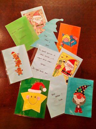 260 biglietti di Natale per i ricoverati di Verduno dai bambini della primaria di Ceresole d'Alba 3