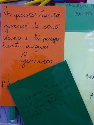 260 biglietti di Natale per i ricoverati di Verduno dai bambini della primaria di Ceresole d'Alba 4