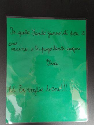 260 biglietti di Natale per i ricoverati di Verduno dai bambini della primaria di Ceresole d'Alba 5