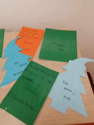 260 biglietti di Natale per i ricoverati di Verduno dai bambini della primaria di Ceresole d'Alba 8
