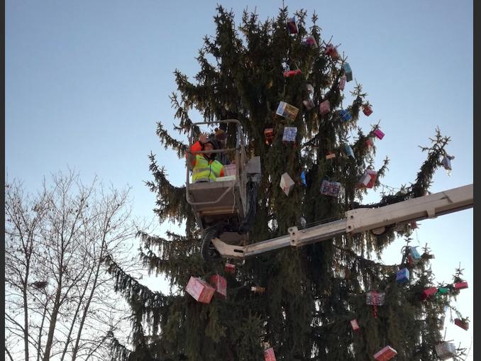 Albero di Natale a Cersole d'Alba
