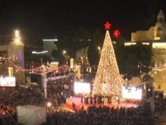 Sabato 5 dicembre Betlemme accende virtualmente con Bra il suo albero di Natale