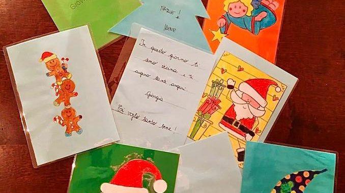 260 biglietti di Natale per i ricoverati di Verduno dai bambini della primaria di Ceresole d'Alba
