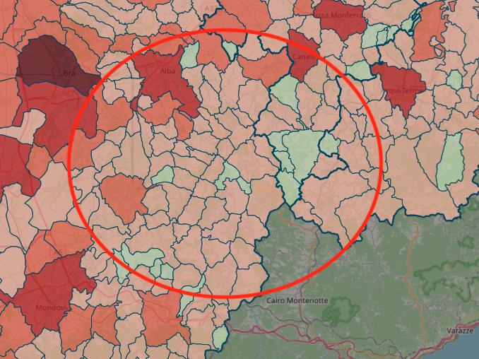 Cartina Covid Regione Piemonte