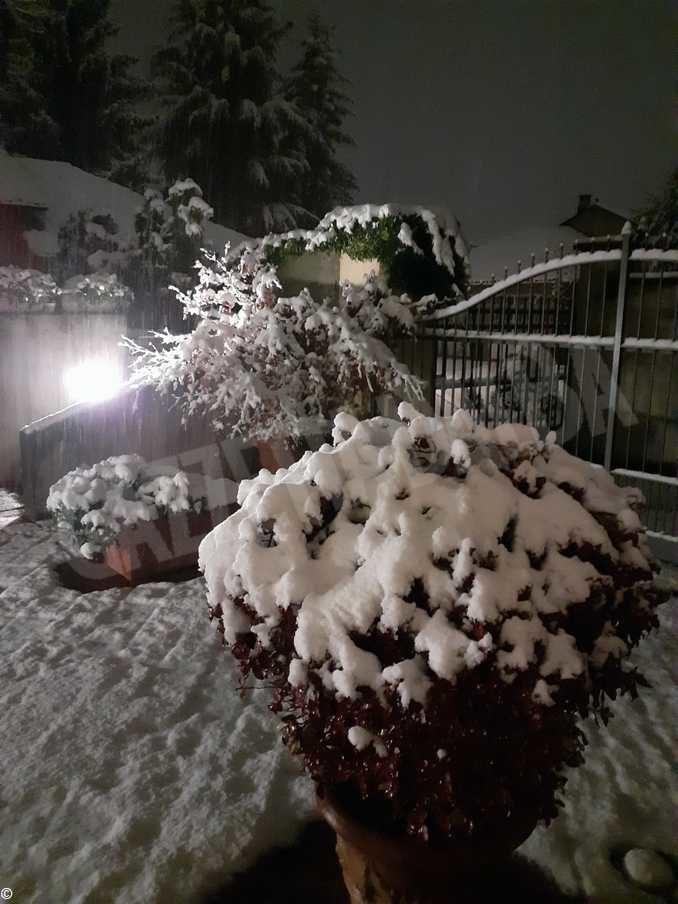 Le foto della prima nevicata stagionale 8