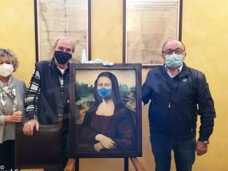 La Gioconda di Gianfranco Pereno ha la mascherina ed è in Municipio 1
