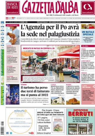 La copertina di Gazzetta d'Alba in edicola martedì 15 dicembre