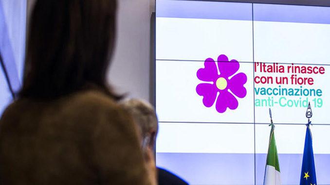 Covid, un fiore simbolo campagna vaccini anti Covid