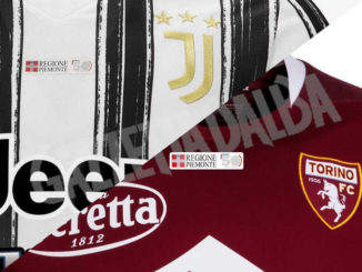 Il logo dei 50 anni della Regione sulla maglie di Juventus e Torino per il derby