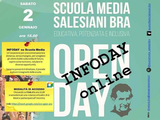 Sabato 2 gennaio il terzo open day online della scuola salesiana braidese