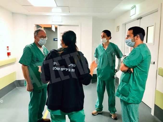 Primo giorno di servizio per la delegazione israeliana di medici e infermieri 1