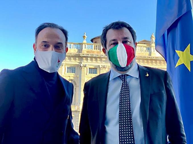 Alberto Cirio e Matteo Salvini