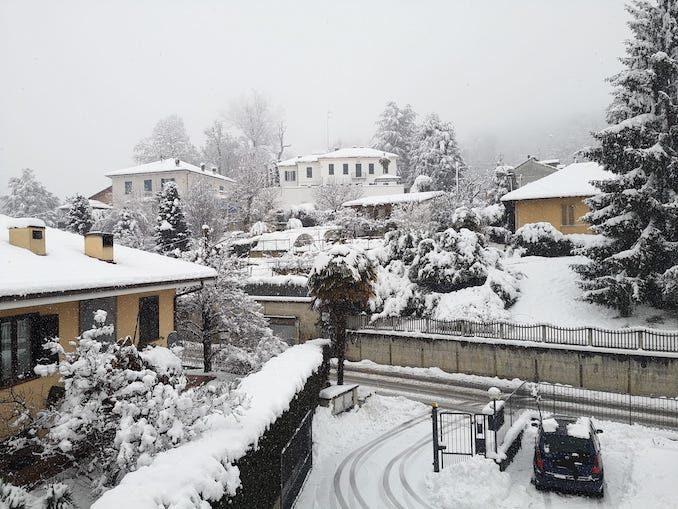 Le fotografie della prima neve del 2021 17