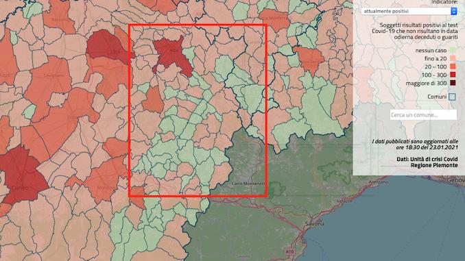 Coronavirus: la situazione a Cortemilia e negli altri paesi dell'Alta Langa