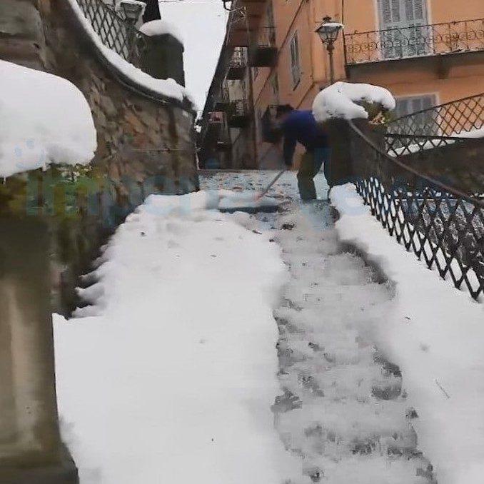 L'antico sistema di Ormea per togliere la neve dal centro cittadino