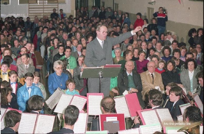 La Banda Musicale San Domenico Savio e il maestro Umberto Balzan(ph. Tino Gerbaldo)