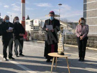 È arrivata all'aeroporto di Cuneo la statua della Madonna di Loreto 1