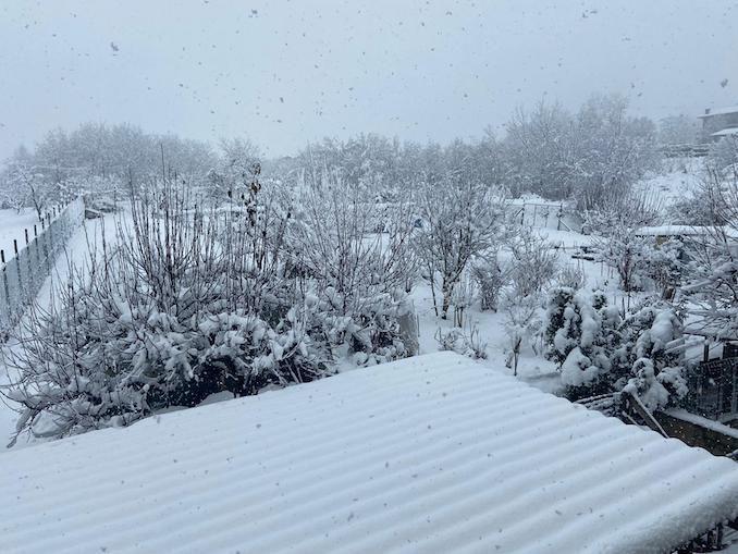 Le fotografie della prima nevicata del 2021 5