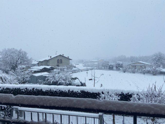 Le foto della prima nevicata del 2021 11