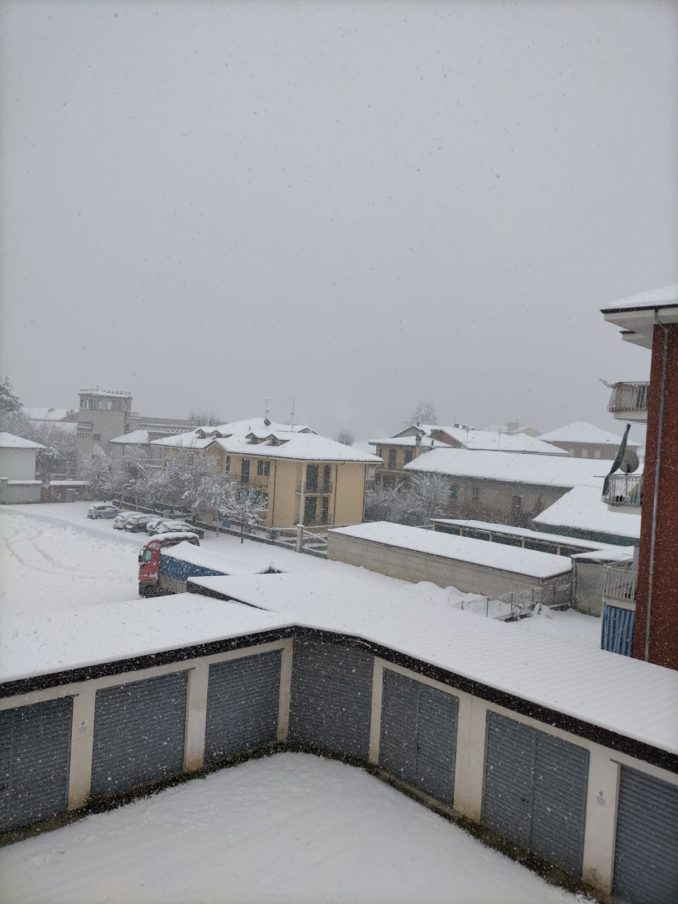 Le foto della prima nevicata del 2021 6