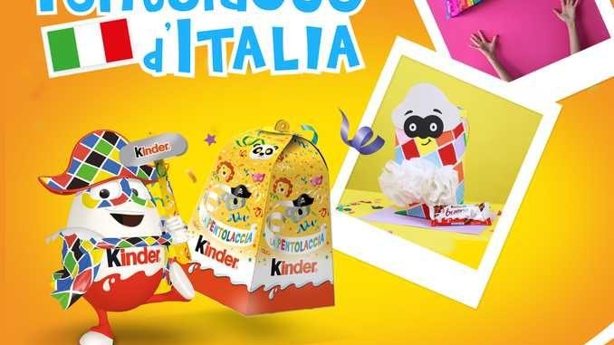 A Carnevale Kinder lancia il concorse Pentolacce d'Italia e collabora con Viareggio