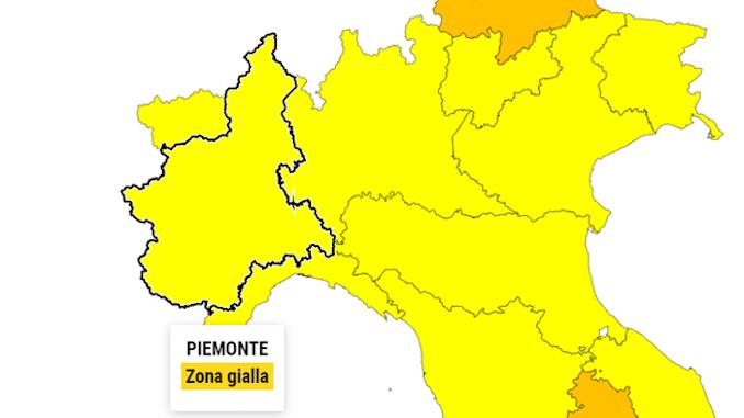 Covid: cala la pressione sugli ospedali, Piemonte giallo 1