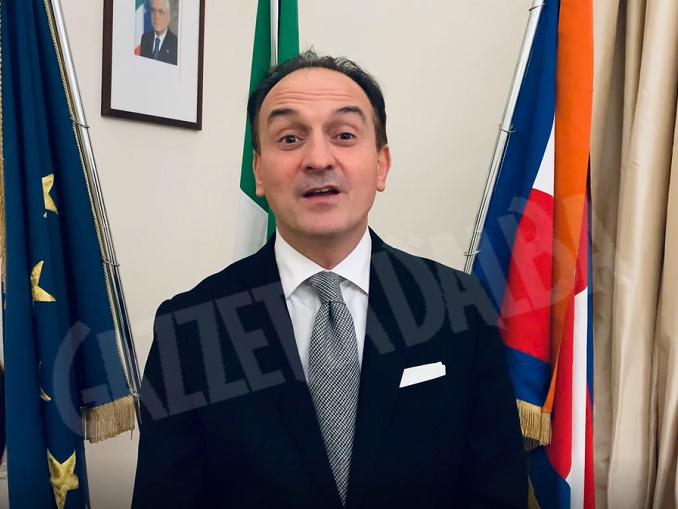 Presidente della Regione Piemonte Alberto Cirio