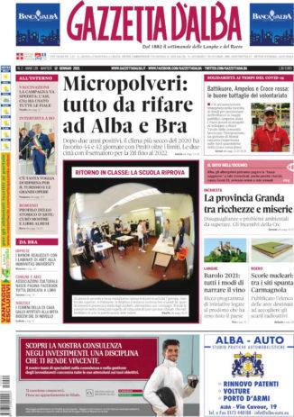 La copertina di Gazzetta d'Alba in edicola martedì 12 gennaio