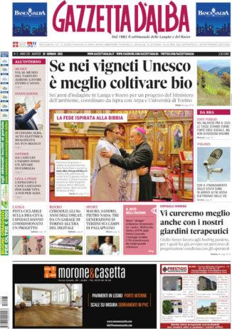 La copertina di Gazzetta d'Alba in edicola martedì 19 gennaio
