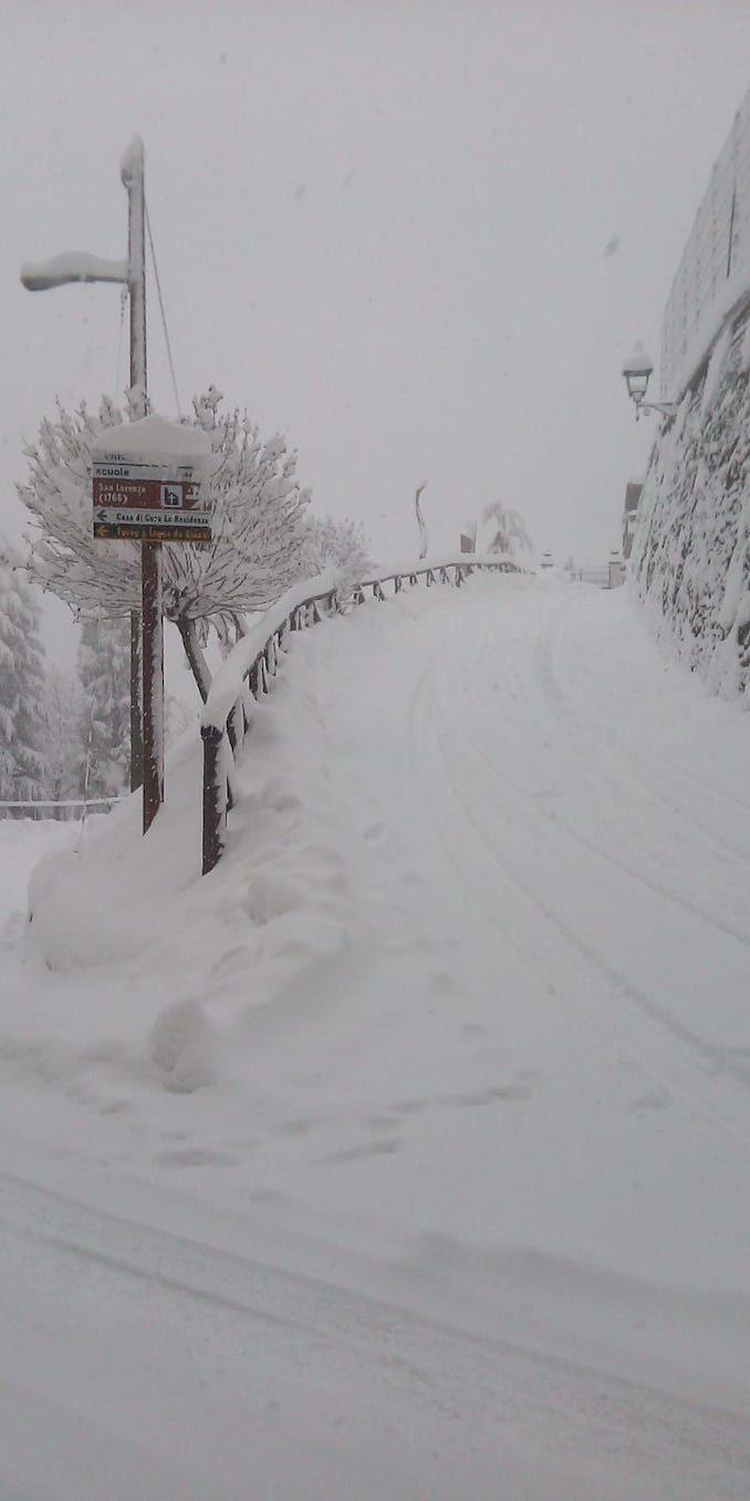 Le fotografie della prima nevicata del 2021 4