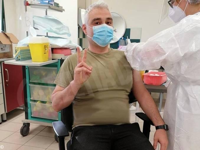 Sindaco Murazzano Luca Viglierchio vaccinato