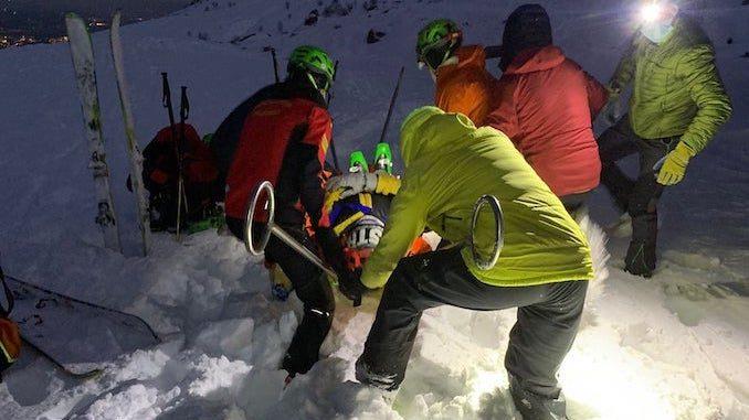 Precipitano con le racchette da neve, soccorsi nella notte 1