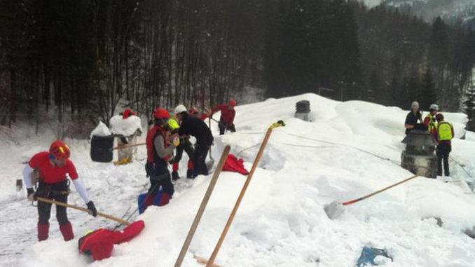Valanghe e infortuni, 6 operazioni di soccorso in montagna