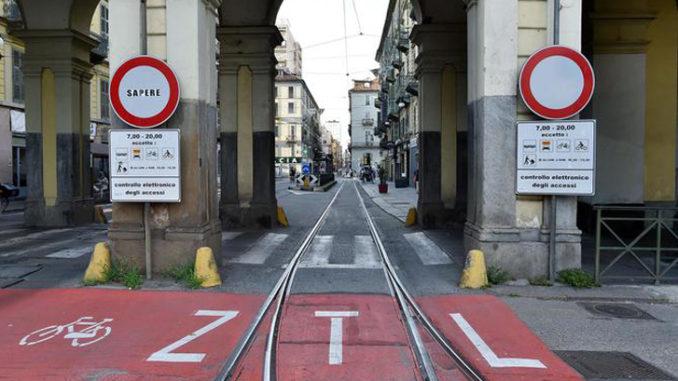 Covid: Torino, Ztl ancora sospesa fino al 26 febbraio