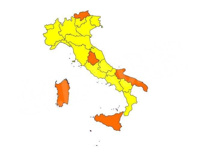 Restrizioni: l'Italia si tinge di giallo. Anche il Piemonte da domenica 31