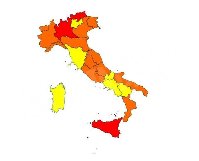 Da domenica il Piemonte entra in zona arancione