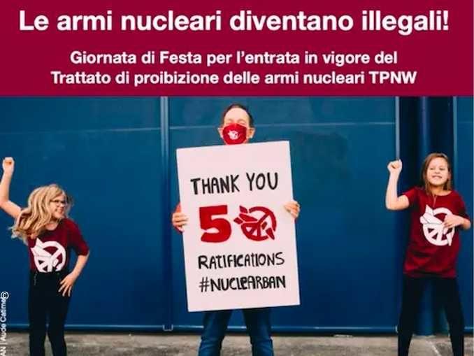 Domani entra in vigore il tratto mondiale contro le armi nucleari 1