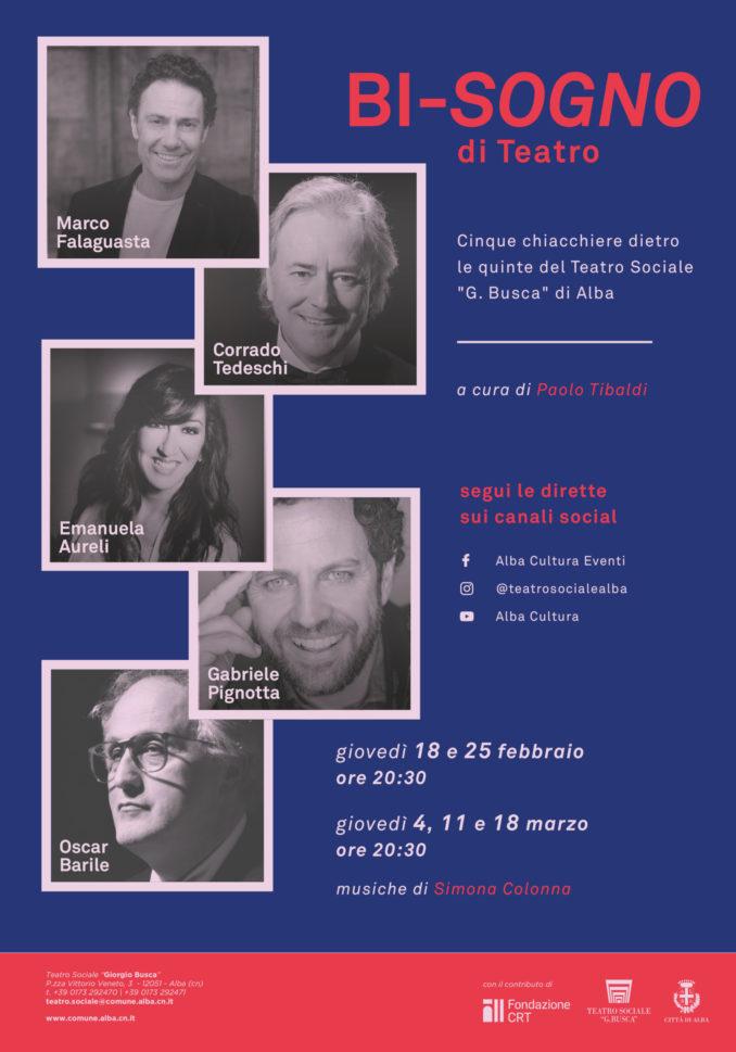 Alba lancia il progetto streaming Bi-sogno di teatro 1