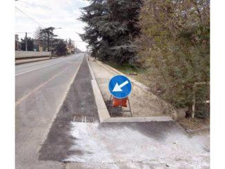 Ceresole: in via Carmagnola prosegue la realizzazione dei marciapiedi