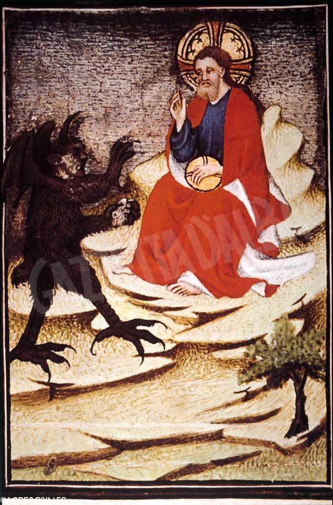 Gesu tentato dal demonio