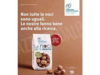 La Life, con le noci per la ricerca, aiuta la fondazione Umberto Veronesi